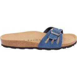 Buty damskie: Klapki w kolorze niebieskim