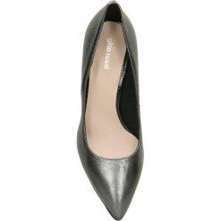 Czółenka RUMI. Szare buty ślubne damskie Gino Rossi, ze skóry, na szpilce. Za 249,90 zł.
