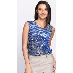Bluzki asymetryczne: Niebieska Bluzka Evolvement