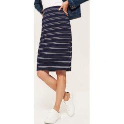 Spódniczki: Ołówkowa spódnica midi – Czarny