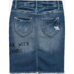 Name it - Spódnica dziecięca 128-164 cm. Szare spódniczki dziewczęce Name it, z haftami, z bawełny, mini. W wyprzedaży za 79,90 zł.