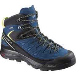 Buty trekkingowe męskie: Salomon Buty męskie X Alp Mid Ltr GTX Black/Poseidon/Sulphur Spring r. 46 (398411)