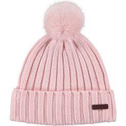 Barts - Czapka Linda. Różowe czapki zimowe damskie marki Barts, na zimę, z bawełny. W wyprzedaży za 89,90 zł.