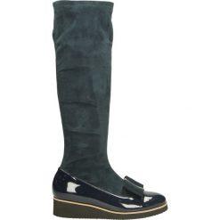 Kozaki - 1603 V-C BLU. Czarne buty zimowe damskie marki Venezia, ze skóry. Za 199,00 zł.