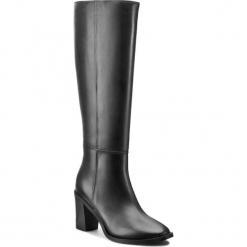 Kozaki GINO ROSSI - Marea DKG764-M80-E100-9900-F Czarny 99. Czarne buty zimowe damskie marki Gino Rossi, z materiału, na obcasie. W wyprzedaży za 349,00 zł.