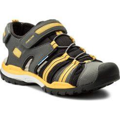 Sandały GEOX - J Borealis B. C J720RC 05014 C0070 D Dk Grey/Yellow. Szare sandały chłopięce marki Geox, z materiału. Za 309,00 zł.