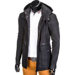 PŁASZCZ MĘSKI C281 - CZARNY. Czarne płaszcze na zamek męskie marki Inny, m, z poliesteru, eleganckie. Za 109,00 zł.