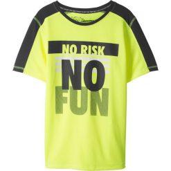 Odzież chłopięca: Shirt sportowy bonprix żółto-czarny z nadrukiem