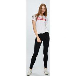 Levi's - Jeansy 710. Brązowe jeansy damskie rurki marki Levi's®, z obniżonym stanem. Za 369,90 zł.