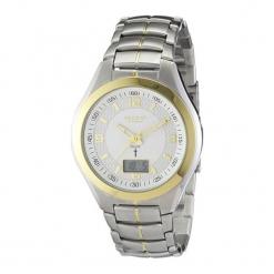 """Zegarek """"11030065"""" w kolorze srebrno-złotym. Szare, analogowe zegarki męskie Dugena & Nautec No Limit, ze stali. W wyprzedaży za 249,95 zł."""