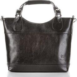 Czarna Włoska skórzana damska torba PAOLO PERUZZI SHOPPER BAG. Czarne shopper bag damskie Paolo Peruzzi, do ręki. Za 259,00 zł.