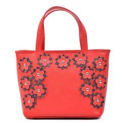 Torebki klasyczne damskie: Skórzana torebka w kolorze czerwonym – (S)20 x (W)29 x (G)11 cm