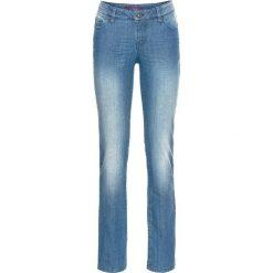 Jeansy damskie: Dżinsy SLIM bonprix niebieski bleached