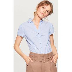 Koszula body - Niebieski. Czerwone koszule damskie marki OLAIAN, z materiału, sportowe. W wyprzedaży za 59,99 zł.