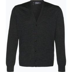 März - Kardigan męski z wełny merino, szary. Brązowe swetry rozpinane męskie marki Alma en Pena, z materiału, na obcasie. Za 599,95 zł.