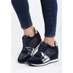 Niebieskie Sneakersy Heavy Dance. Niebieskie sneakersy damskie Born2be, z materiału. Za 89,99 zł.