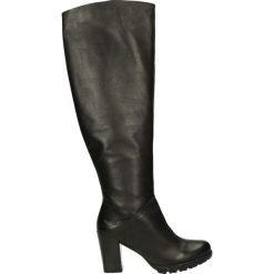 Kozaki - 65756 DEN BLA. Czarne buty zimowe damskie marki Venezia, z materiału, na obcasie. Za 223,00 zł.