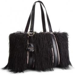 Torebka PATRIZIA PEPE - 2V8354/A4L6B-F1UE Black Fur. Czarne torebki klasyczne damskie marki Patrizia Pepe, ze skóry. W wyprzedaży za 1249,00 zł.