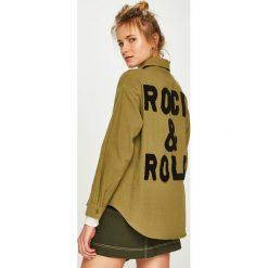 Answear - Koszula. Brązowe koszule damskie ANSWEAR, l, z bawełny, z długim rękawem. Za 149,90 zł.