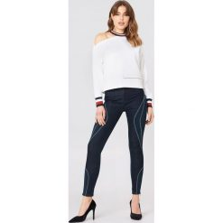Bluzy damskie: Tommy Hilfiger Bluza Gigi Hadid Open Shoulder LS - White