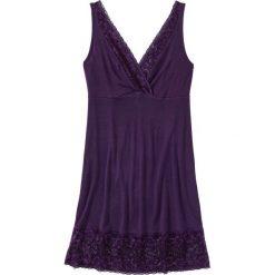 Koszula nocna z wiskozy bonprix ciemny lila. Fioletowe koszule nocne i halki marki FOUGANZA, z bawełny. Za 59,99 zł.