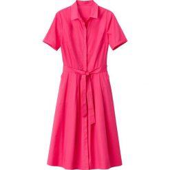 Sukienki hiszpanki: Rozszerzana sukienka koszulowa z paskiem