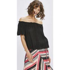 Answear - Top Stripes Vibes. Czarne topy damskie ANSWEAR, l, z tkaniny. W wyprzedaży za 49,90 zł.