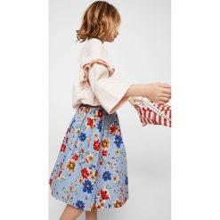 Mango Kids - Spódnica dziecięca Pardo 110-152 cm. Szare spódniczki dziewczęce marki Mango Kids, z bawełny, z podwyższonym stanem, midi, rozkloszowane. Za 99,90 zł.