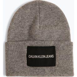 Calvin Klein Jeans - Czapka męska z dodatkiem kaszmiru, szary. Szare czapki męskie marki Calvin Klein Jeans, z jeansu. Za 179,95 zł.