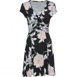 Sukienka z dżerseju w kwiaty bonprix czarny w kwiaty. Czarne sukienki letnie bonprix, w kwiaty, z dżerseju. Za 129,99 zł.