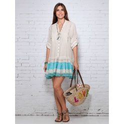 Sukienki hiszpanki: Sukienka w kolorze beżowym