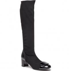 Kozaki SAGAN - 3374/1 Czarna Lycra/CZarny Lakier. Czarne buty zimowe damskie marki Sagan, z lakierowanej skóry, przed kolano, na wysokim obcasie, na obcasie. W wyprzedaży za 229,00 zł.