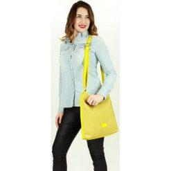 Listonoszki damskie: Wyplatana torebka listonoszka żółta