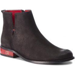 Botki CARINII - B4342  360-000-000-C97. Czarne buty zimowe damskie Carinii, z nubiku, na obcasie. W wyprzedaży za 239,00 zł.