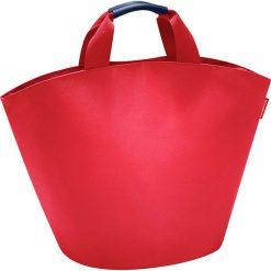 Shopper bag damskie: Shopper bag w kolorze czerwonym – 60 x 42 x 13 cm