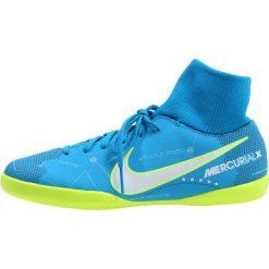 Nike Performance MERCURIALX VCTRY6 DF NJR IC Halówki blue orbit/armory navy/white. Niebieskie halówki męskie Nike Performance, z materiału, do piłki nożnej. W wyprzedaży za 149,50 zł.