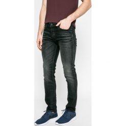 Jack & Jones - Jeansy. Czarne jeansy męskie relaxed fit marki Jack & Jones, l, z bawełny, z okrągłym kołnierzem. W wyprzedaży za 199,90 zł.