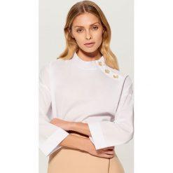 Koszula z szerokimi rękawami - Biały. Białe koszule damskie marki Mohito. Za 99,99 zł.