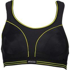 Biustonosze sportowe: Sportowy biustonosz w kolorze czarno-jaskrawożółtym