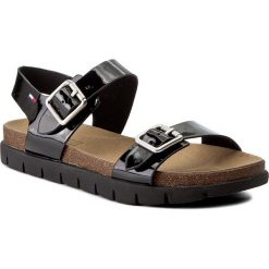 Rzymianki damskie: Sandały TOMMY HILFIGER – DENIM Slide Sandal 3Z FW0FW00634  Black 990