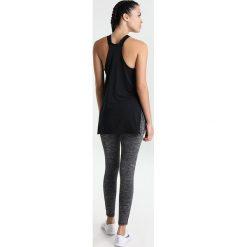 Nike Performance TANK GYM Koszulka sportowa black/black/white. Czarne topy sportowe damskie marki Nike Performance, xs, z elastanu. W wyprzedaży za 143,10 zł.