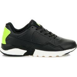 Buty skate męskie: Czarne obuwie sportowe ABBY