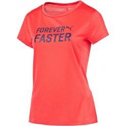 Puma Koszulka Sportowa Pe Running S S Logo Tee W M. Różowe bluzki sportowe damskie Puma, l, z napisami. W wyprzedaży za 65,00 zł.