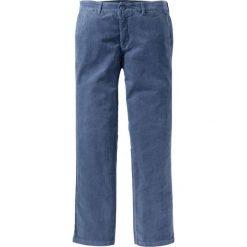 Spodnie sztruksowe chino Regular Fit bonprix indygo. Niebieskie chinosy męskie marki bonprix, ze sztruksu. Za 79,99 zł.