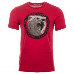 Mustang T-Shirt Męski, M, Czerwony. Czarne t-shirty męskie marki Mustang, l, z bawełny, z kapturem. Za 128,00 zł.