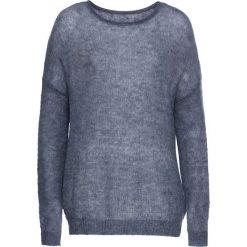 Sweter bonprix ciemnoniebieski melanż. Niebieskie swetry klasyczne damskie bonprix, z dekoltem w łódkę. Za 37,99 zł.