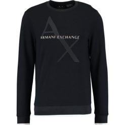 Armani Exchange Bluza navy. Czarne bluzy męskie marki Armani Exchange, l, z materiału, z kapturem. Za 459,00 zł.