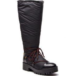 Buty zimowe damskie: Kozaki EMPORIO ARMANI - X3O160 XL478 K001 Black/Black