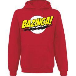 Bejsbolówki męskie: The Big Bang Theory Bazinga Bluza z kapturem czerwony