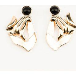 Kolczyki damskie: NA-KD Accessories Duże asymetryczne kolczyki - Gold